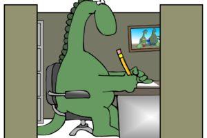 Help, er zit een dinosaurus in mijn vergadering
